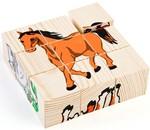 Кубики деревянные. Домашние животные